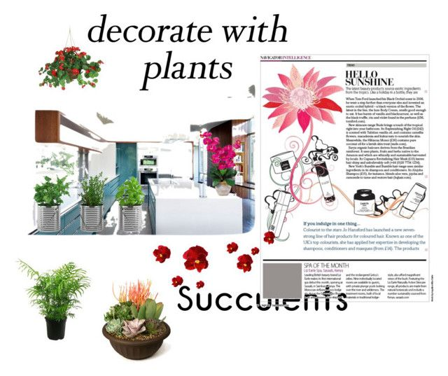 """#Plants"" by rawal-sadhana on Polyvore featuring interior, interiors, interior design, home, home decor, interior decorating, Nearly Natural, plants and planters"
