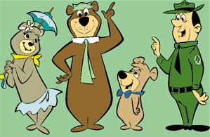 Yogi  Bear , Boo Boo, Park Ranger, and Cindy Bear.