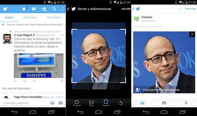 Twitter para Android mejora su editor de imágenes, añade recomendaciones en el timeline y más http://www.xatakandroid.com/p/106163