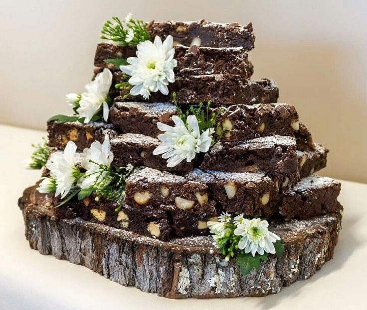 Wedding Brownie Stack
