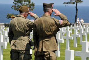 Soldierrs in #Normandy cemetery www.bulletbluesca.com