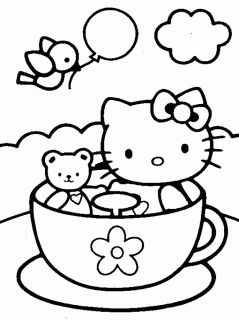356 best hello kitty images on Pinterest Party printables, Cat - fresh hello kitty ladybug coloring pages