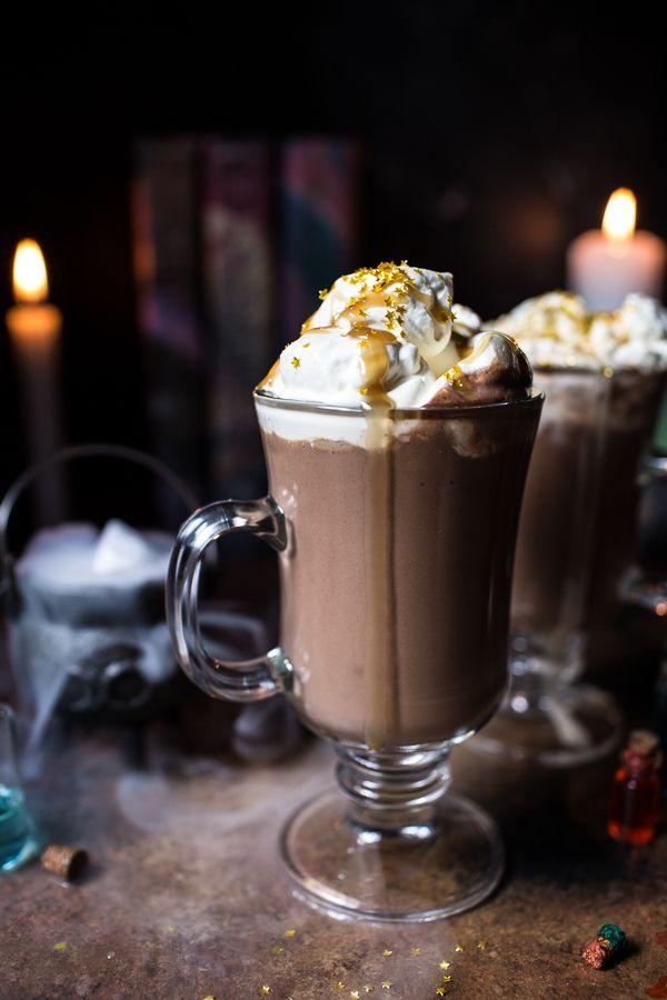 Pumpkin Butterbeer Hot Chocolate (VIDEO) | halfbakedharvest.com @hbharvest