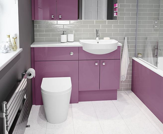Dare To Be Different With Viola, Our Purple Gloss Bathroom Furniture - When browsing through our bathrooms, there's one finish that's sure to catch your eye. Viola is our beautiful range of purple gloss bathroom furniture. Make your bathroom reflect your personality by adding a huge splash of colour! In this blog, we'll show you how to accessorise and style Viola for it to reach its full potential in your bathroom.