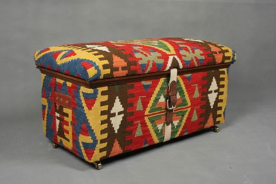 495 w d h 95 47 48 cm handwoven wool kilim trunk coffee