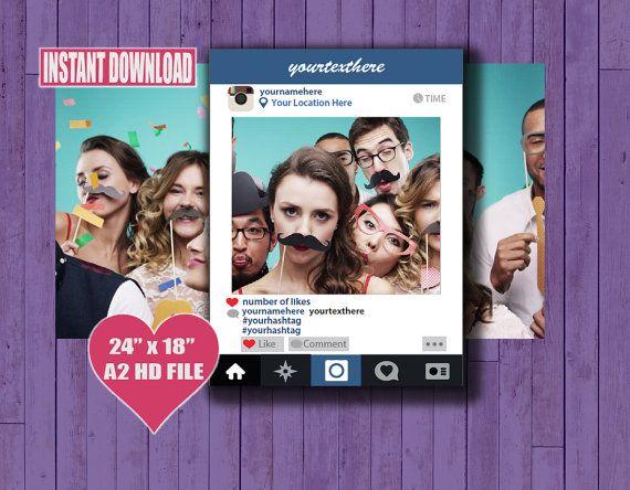 Instagram Photo Frame INSTANT DOWNLOAD Printable