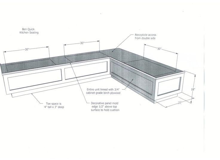 DIYwoodbreakfastnookbenchdimensionsplanswithstorageideas - Breakfast nook dimensions