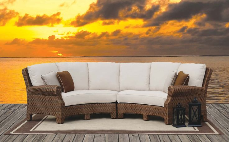 Santa Cruz 2 Piece Curved Sectional In Light Brown Sunset West Home Gallery Stores With