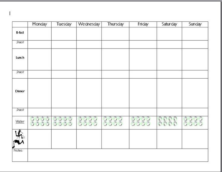 Day Meal Planner Template