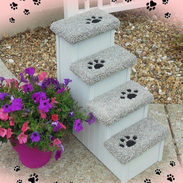 Custom, Stylish, Sturdy Pet Steps #PetSteps #PetStairs #DogSteps #DogStairs  #