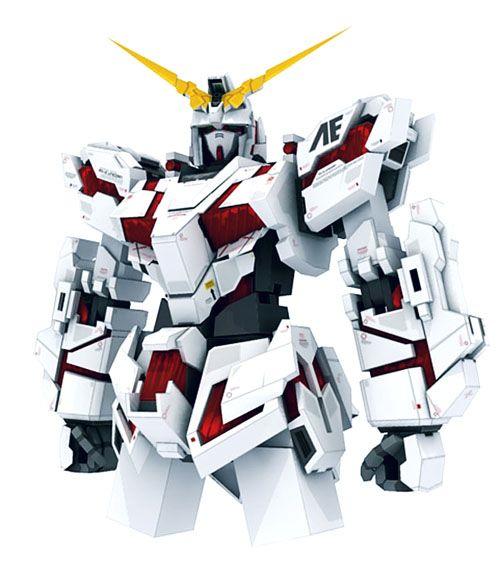 Unicorn Gundam Papercraft | Gundam Papercraft