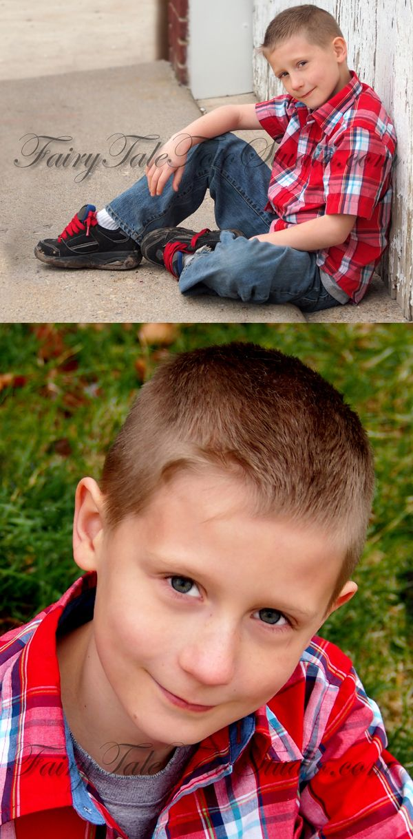 9 Year Old Boy Outdoor Photo Session Shoot