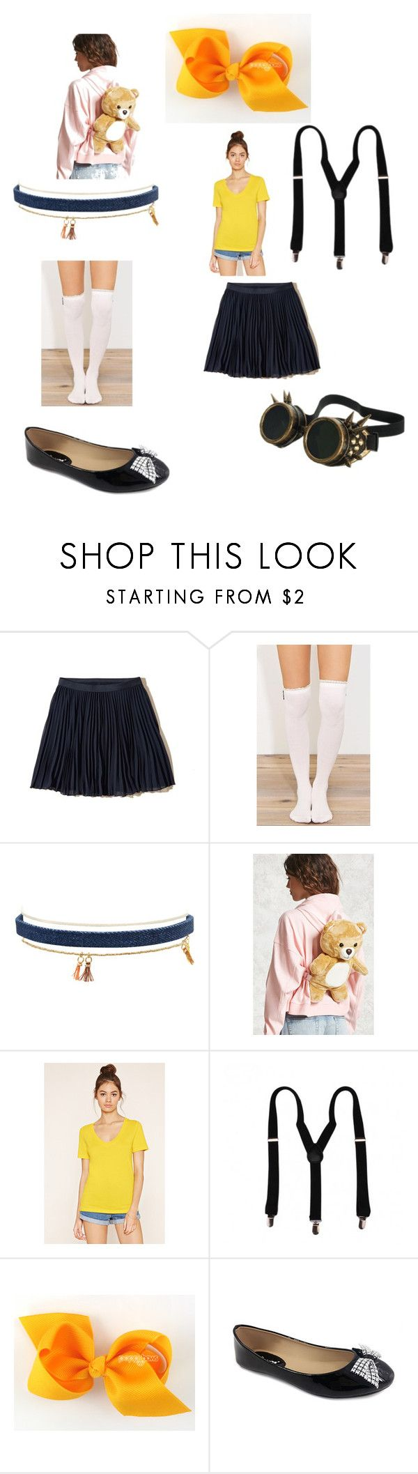 """""""Minions outfit!(3)"""" by hailie-jolley on Polyvore featuring Hollister Co., Forever 21 and Ositos Shoes"""