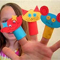 Marionnette pour doigts en papier Activité manuelle et bricolage enfant