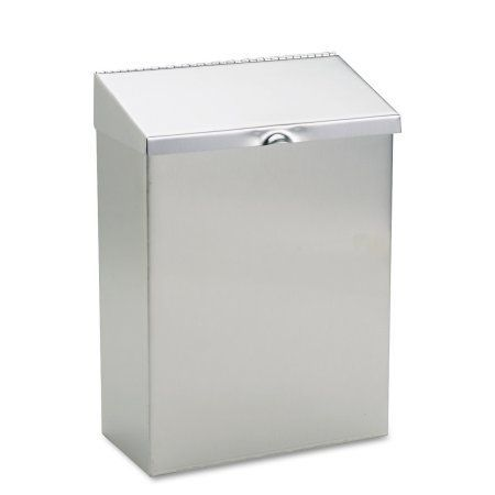 Hospeco Wall Mount Sanitary Napkin Receptacle, 8 x 4 x 11, Stainless Steel, Multicolor