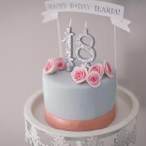 AnDphotography HAPPY 18th B❤︎DAY, ILARIA! Cake topper and decorations, we handmade for Ilaria's birthday party! Find it out on our website!