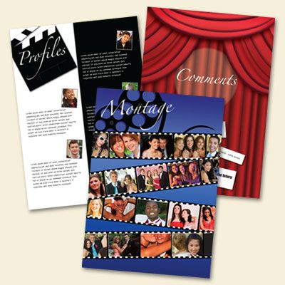 Yearbook theme ideas - At the Movies style - Great Ways to Build Your School Yearbook with SPC Yearbooks