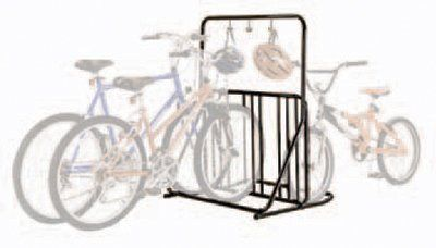 gearup 6-Bike Rack and Accessory Bar, Black by GearUp. $196.79. Powder coated black finish helps resist scratches. Heavy-duty carbon steel frame uses plastic inserts at all connections to eliminate metal to metal contact that can lead to rust and corrosion. This easy to use bike rack stores up to 6 bikes upright. Accessory storage rack holds helmets, book bags and more. This easy to use bike rack stores up to 6 bikes upright. A sleek euro styled powder coated ste...