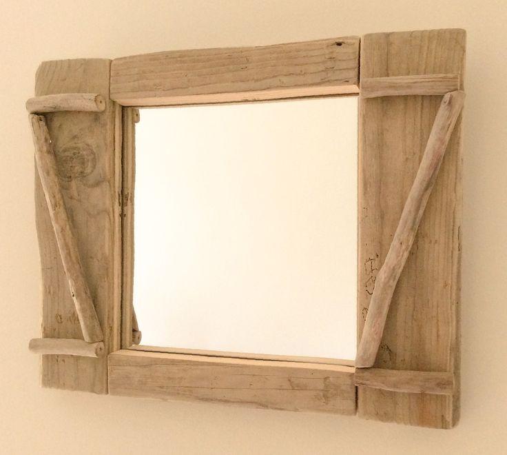 17 meilleures id es propos de miroir en bois flott sur for Miroir rectangulaire bois