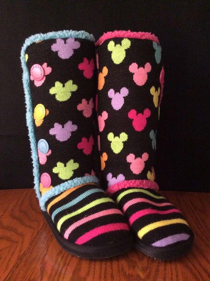 Disney Mickey Minnie Mouse Boots Little Miss Matched Mismatched Black 5 Fashion #LittleMissMatched #FashionKneeHigh