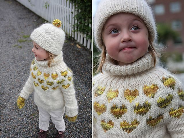 Free Pattern for size 2-4: I <3 U Sweater with accessories