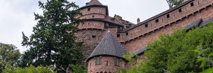 Château du Haut-Kœnigsbourg. Castle in France, Europe
