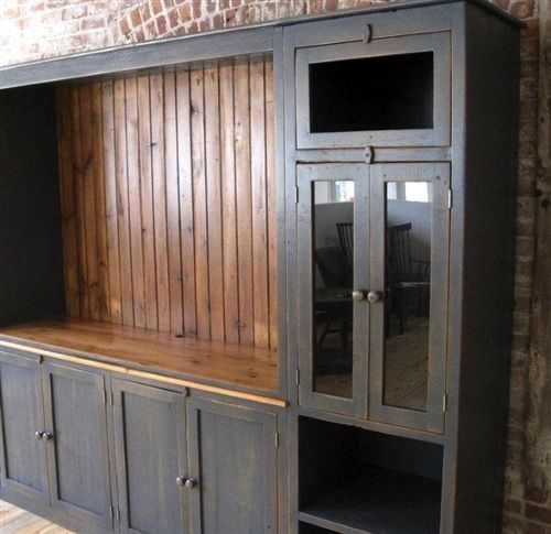 Large Farmhouse Style Media Cabinet Tv HutchRustic HutchDining Room