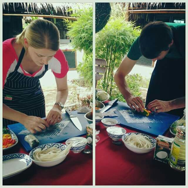 Cooking classes at Elements boutique resort and spa. Koh Samui.