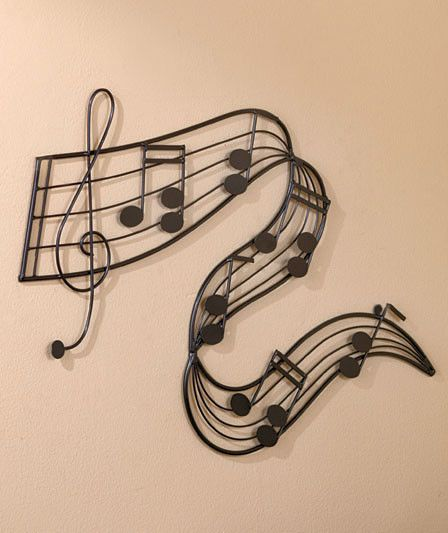 metal note bar music wall art for music lovers home decor 26 34