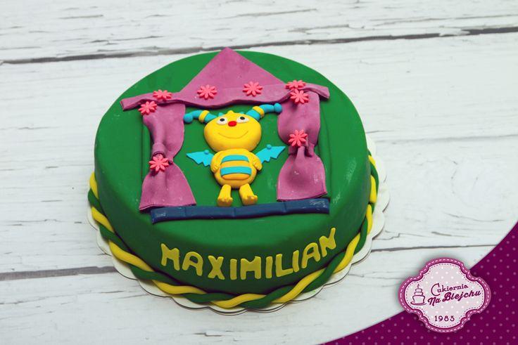 Tort w stylu angielskim, tort dla dziecka, tort bajkowy, Henio tulistworek, tort z Heniem, tort urodzinowy, dla chłopca, torcik dla dziewczynki