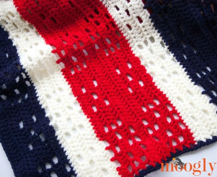 4th of july baby blanket