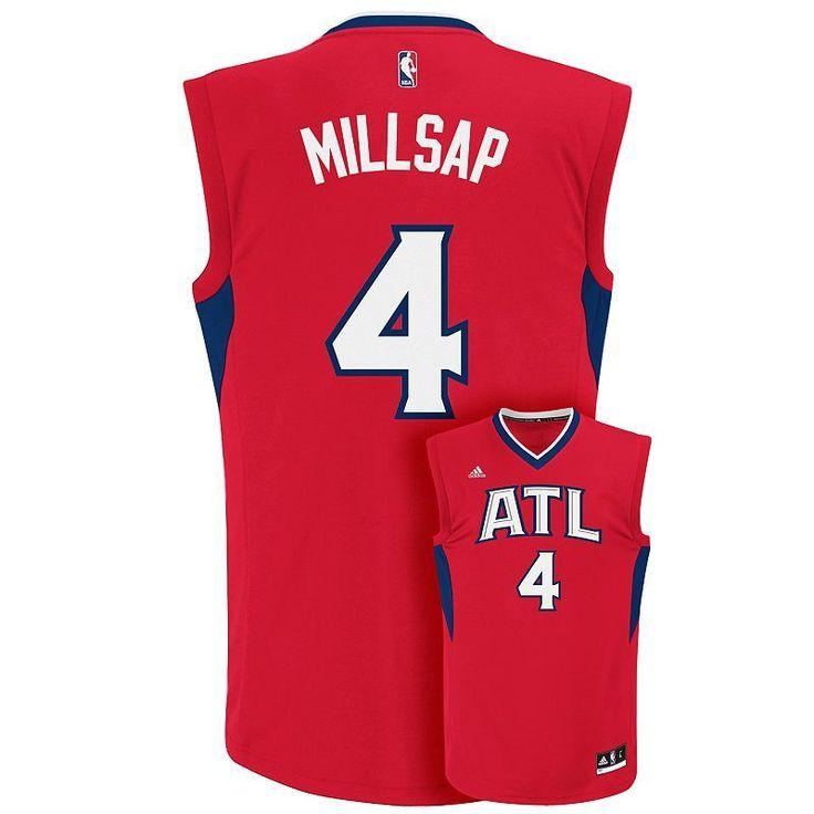 Men's Adidas Atlanta Hawks Paul Millsap NBA Replica Jersey, Size: