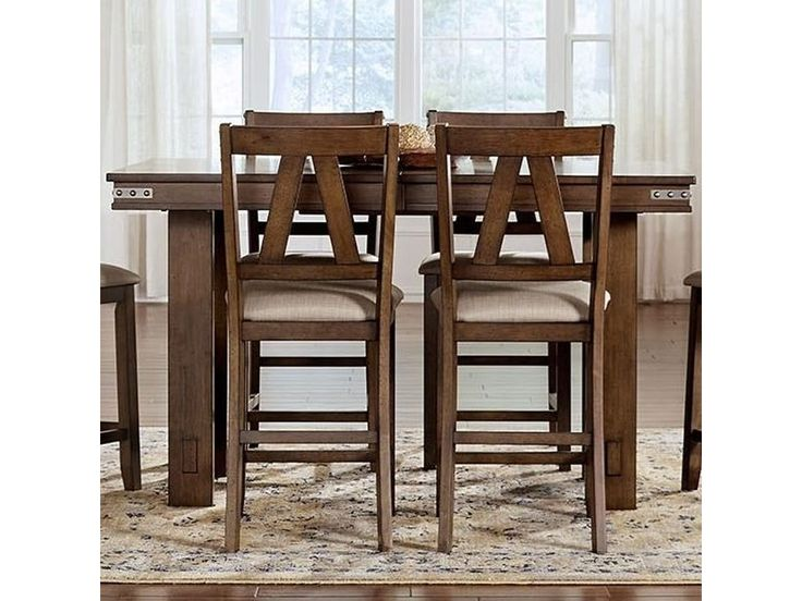 Eastwood Dining Solid Wood Counter Height Table With Butterfly