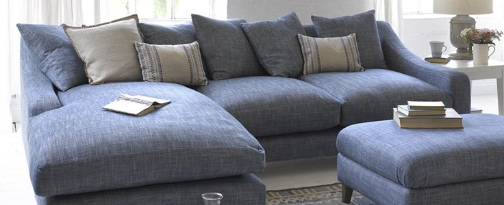 Blue L Shaped Sofas | Made in Blighty | Loaf