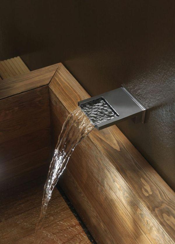 robinet cascade, mécanisme caché