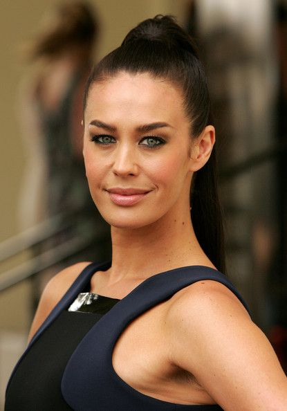Megan Gale Ponytail - Megan Gale sported a sleek high ponytail when she attended the L'Oreal Melbourne Fashion Festival program launch.