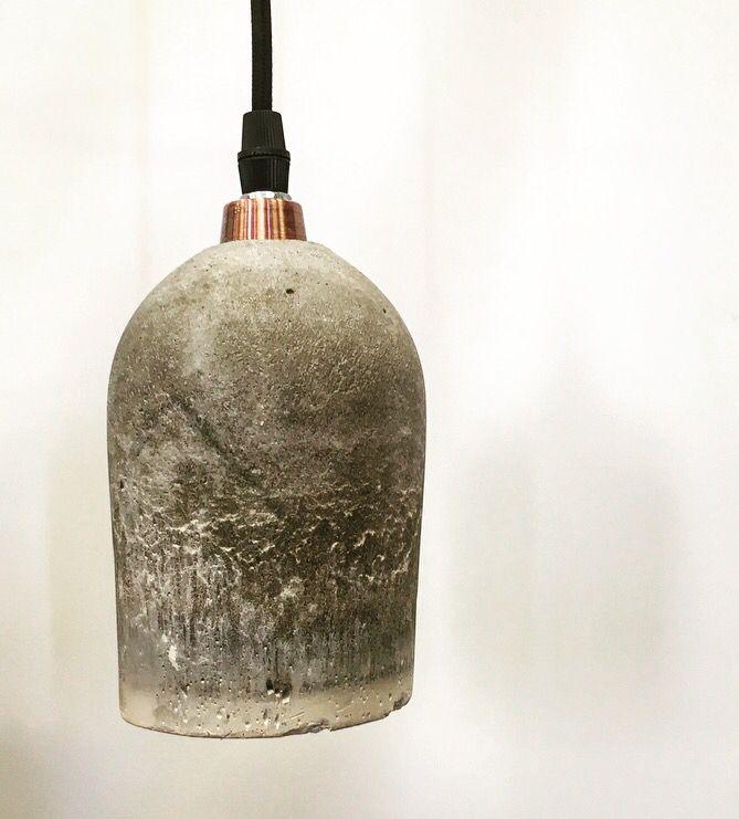Concrete lamp, by Amalie Kjendalen 8.kl.