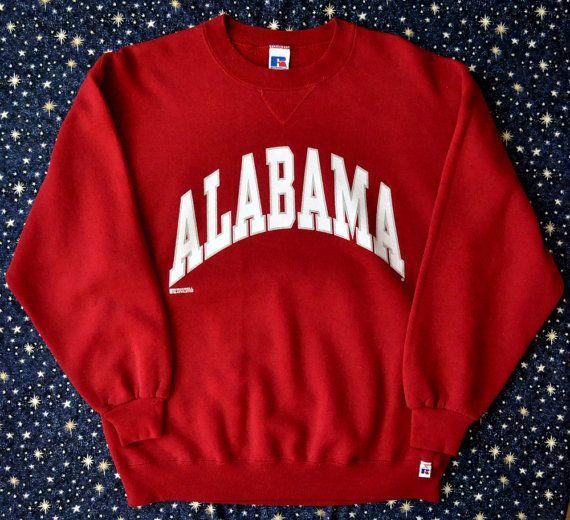 Vintage 80s University of Alabama Crewneck by hannahisawful