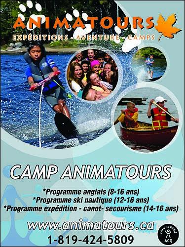 Camp de vacances d'été immersion anglais linguistique , camp ski nautique, camp de vacances expédition canot- pédestre, ENTRE-LACS