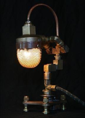 Steampunk Art Lamps: Steampunk Art, Found Art, Art Lamps, Steampunk Whimsy, Lamps Steampunk, Steampunk Style, Steampunk Houses, Cory Barkman, Steampunk Lamps