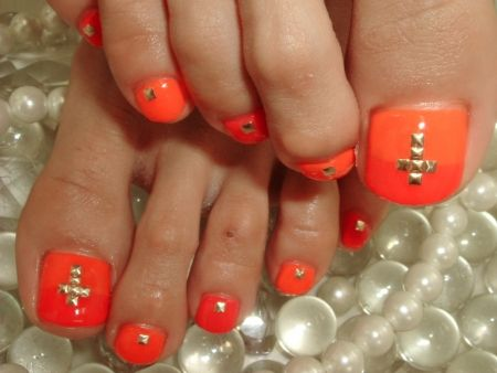 Bright Orange and studs