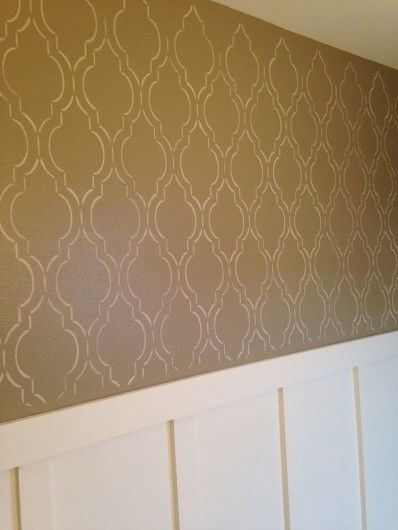 Diy wall stencil pinterest : Best images about stenciled bathrooms on