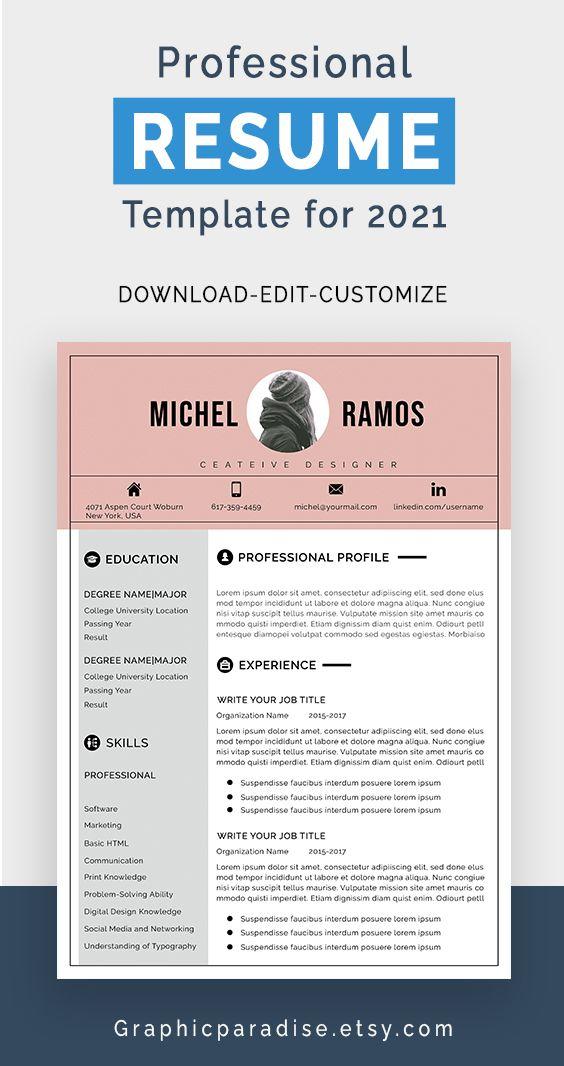 Modern Resume Template Microsoft Word Free Resume Template Etsy In 2021 Modern Resume Template Functional Resume Template Resume Template Word