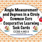 Your students will see the connection between angle measurement and 360 degrees in a circle with this set of 24 self checking task cards task cards...
