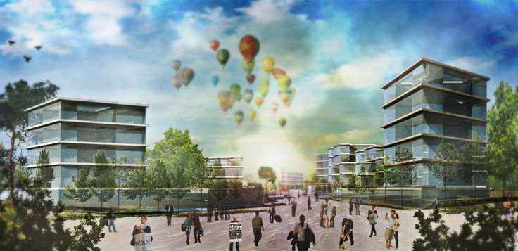 Render, Master Plan Cerdanyola del Vallès, Barcelona. By Bandada Studio