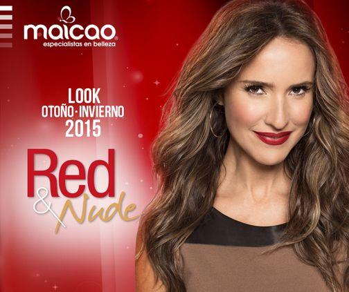 """Look """"Red"""", Especial Belleza Otoño-Invierno 2015, MAICAO"""
