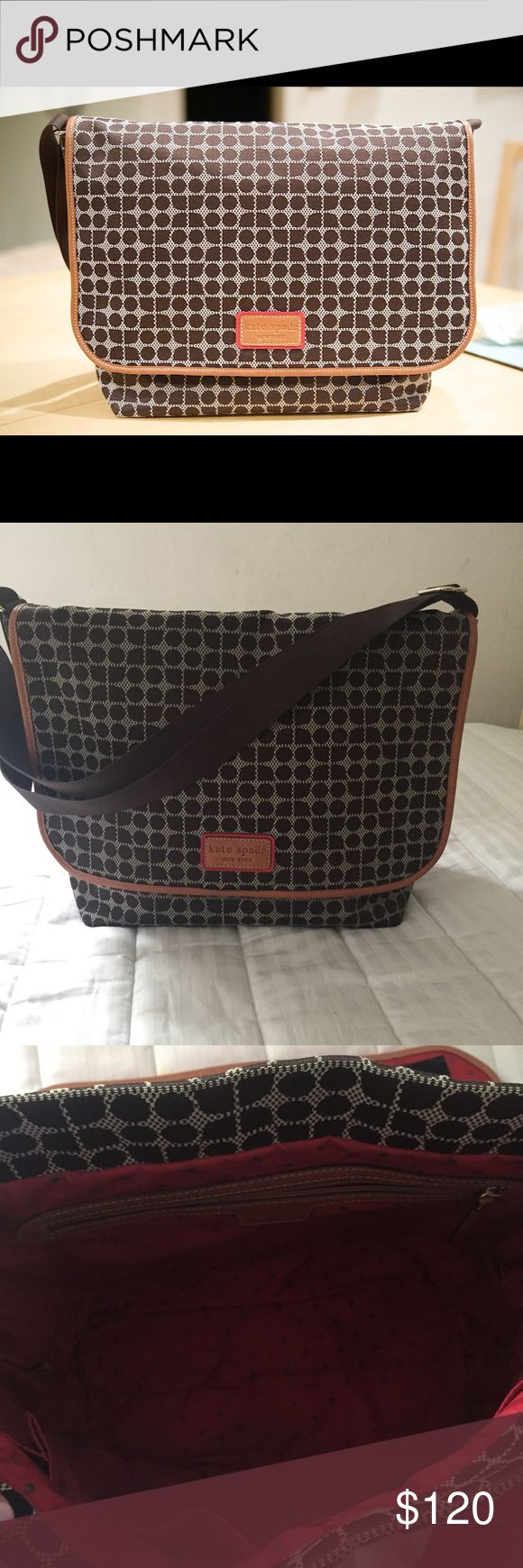 Kate Spade Kent diaper bag large EUC Adorable Kate Spade KENT messenger diaper bag in NOEL print. Large bag with changing pad. Has been slightly used but in excellent condition. Outside looks new. A few tiny marks inside. Retails for $268  S/P free  Cross posted kate spade Bags Baby Bags