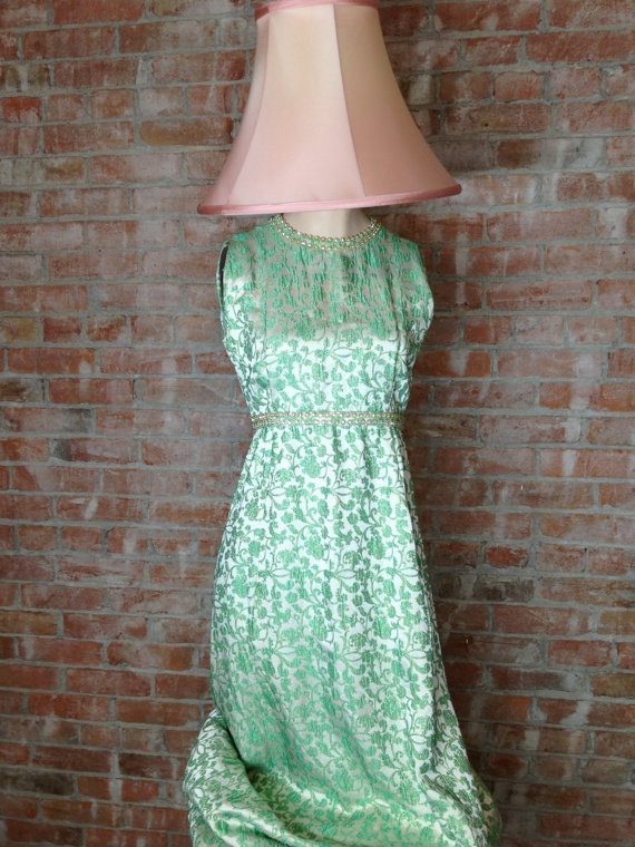 Vintage Evening Gown Mid Century Modern Maxi Prom by TheJavaShop, $135.00