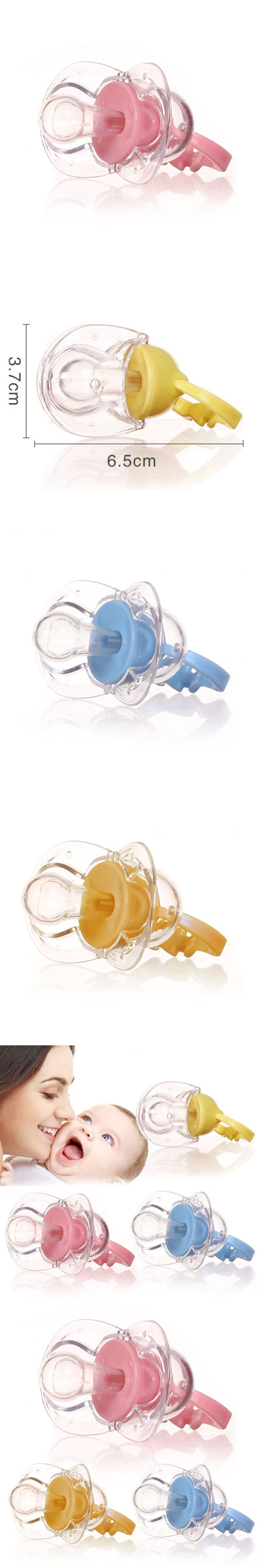 Portable Convenient Orthodontic Pacifier Soft Baby Dummy Transparent Silicone Soother Safe Flexible Harmless