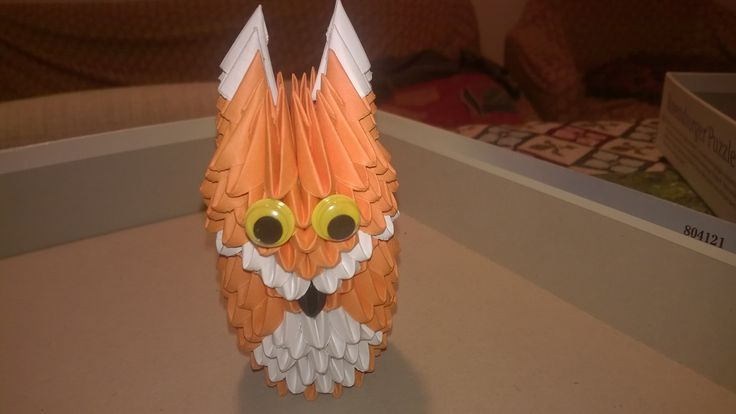 3d origami volpe